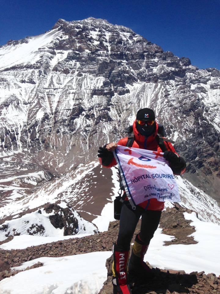 Alpiniste au grand c ur en solitaire pour ho pital sourire