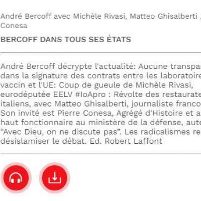 Bercoff actualiter vacin secret