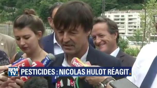 Pesticides : Matignon ne reviendra pas sur l'interdiction, Nicolas Hulot