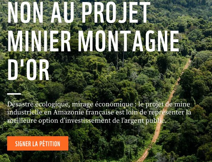Petition non au projet minier montagne d'or