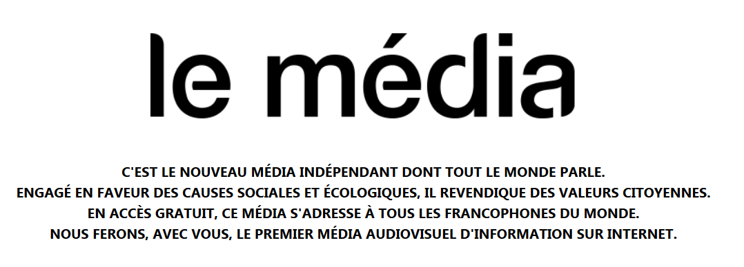 """Nouveau - Le média """"Média citoyen"""""""