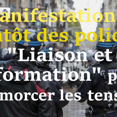 Manifestants contre force
