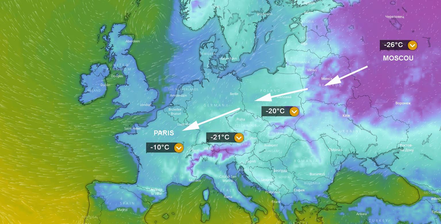 Meteo vague de froid quelles temperatures negatives faut il s attendre 5